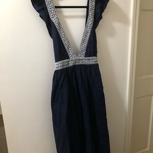 J.Crew navy cover up with flutter sleeves - new!